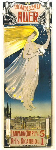 Vintage Italian Posters ~  #Italian #vintage #posters ~ Art Nouveau in Italy - cambellotti