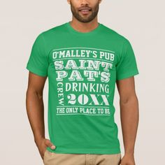Personalized Drinking Crew Team St. Patricks Day T-Shirt