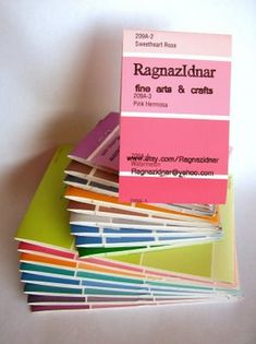 Paint Swatch Notebook #notebook #diary #stationery #notizbuch #tagebuch #papier #notizbuchblog
