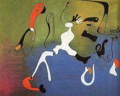 Tableaux sur toile, reproduction de Miro, Painting, 130x162cm