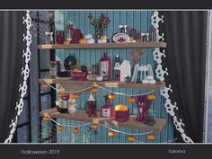 The Sims Resource: Halloween 2019 by soloriya The Sims, The Ea, Sims Building, Sims Resource, Sims Community, Gothic House, Sims 4 Custom Content, Electronic Art, Halloween 2019