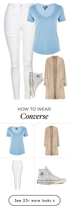 """""""Untitled #1594"""" by chaoticaphrodite on Polyvore featuring Topshop, Current/Elliott and Converse"""