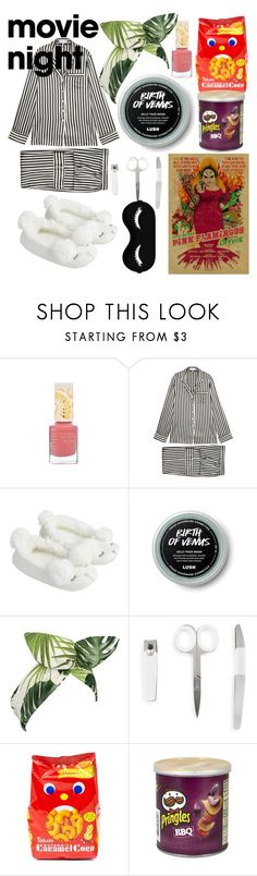 """staying in"" by addie-gingold ❤ liked on Polyvore featuring Pacifica, Olivia von Halle, Accessorize, Lulu in the Sky, Rupaul and Urban Spa"