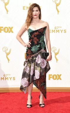 Kathryn Hahn from 2015 Emmys: Red Carpet Arrivals  In Vivienne Westwood