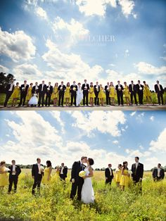 i think this would be cute for our wedding party..i like the bottom picture scattered in the field