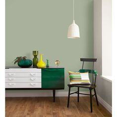 Crown Matt Emulsion Paint Mellow Sage Image 3 - green bedroom - Home Sage Living Room, Living Rooms, Moraira, Bedroom Green, Master Bedroom, Family Room Design, Kitchen Paint, Inspired Homes, Room Colors