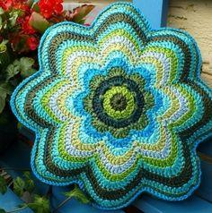 Crochet Pillows | Crochet flower pillow by tlovemurphy