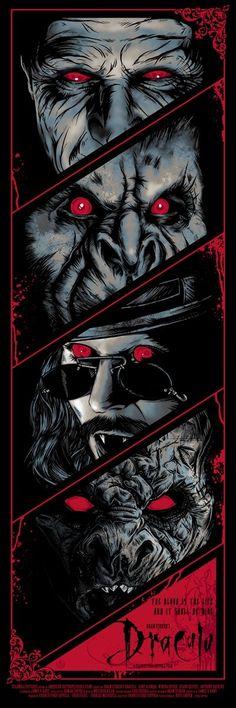 """Dracula"" Foil Variant by Rhys Cooper - Hero Complex Gallery Arte Horror, Horror Art, Horror Movies, Rhys Cooper, Coppola, Bram Stoker's Dracula, Arte Obscura, Geniale Tattoos, Vampires And Werewolves"