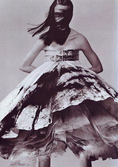 Photo by Steven Klein, 5/1999, Alexander McQueen, Vogue Italia. Model: Hannelore Knuts