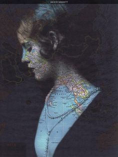 Portrait/Map collages - Jackie Bassett on Etsy Fun Art, Cool Art, Vintage Photographs, Vintage Photos, Map Collage, Map Crafts, Map Painting, A Level Art, Montages