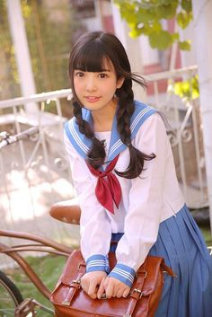 Concentration returns to who you are, rather than that which you're wearing, Best Uniforms, Cute School Uniforms, School Uniform Girls, Cute Twins, Cute Girls, School Girl Dress, Japanese School Uniform, Bunny Outfit, Kawaii