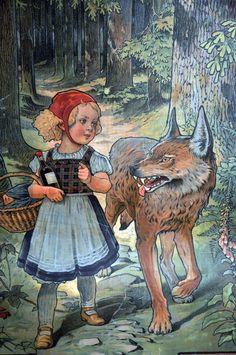 Popular Detail aus einem Schulwandbild zum M rchen Rotk ppchen