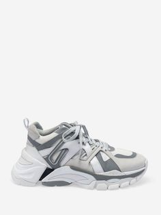 The ASH Spring Summer Collection 2019 brings bold style items like the Flash White Grey Sneakers to your wardrobe. Shop ASH Sneakers now. Ash Sneakers, Chunky Sneakers, Shoes Sneakers, Baskets, Ash Shoes, Bold Fashion, Shoe Size Chart, Grey Yellow, Toe Shape