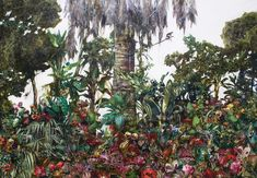 Luis Bivar, Untitled, 2018, GALLERI RAMFJORD Miami, Mixed Media, Artsy, Collage, Paintings, Canvas, Artwork, Plants, Tela
