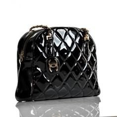 41209127e1e Chanel Vintage genuine authenticated Black Patent Leather Shoulder Tote Bag.jpg  Chanel Tote, Chanel