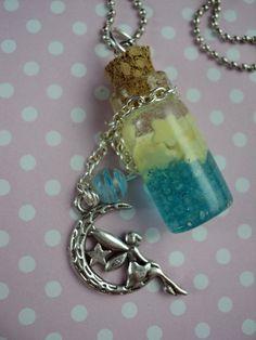 Stardust Starfairy Miniature Glass Bottle Charm by StudioKawaii https://www.etsy.com/listing/206844279/stardust-starfairy-miniature-glass