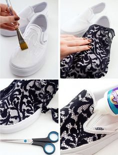 I do a lot of things i don´t have to do. Bedazzled Shoes, Bling Shoes, Diy Clothes And Shoes, Diy Clothing, Vans Customisées, Diy Fashion, Fashion Shoes, Bridal Fashion, Latest Fashion