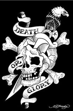 Ed Hardy poster featuring Death Or Glory design from the famous American tattoo…