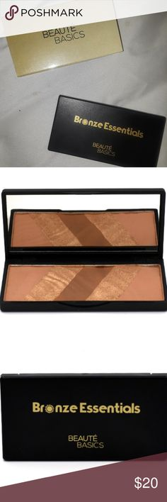 Beauté Basics Bronze Essentials Bronzer New In Box Beauté Basics Bronze Essentials Bronzer Palette never used!! Beautiful buttery shades for a natural sun kissed glow!! Beauté Basics Makeup Bronzer