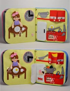 Ready to ship!!! Travel fabric Dollhouse book with felt doll. It's a great present for your child!  This dollhouse has interesting content and encourage the development of hands. Contains little parts, not suitable for children under 3. But you can remove them until the child grows into them. The dollhouse will be interesting to children from age they understand pretend play (about two years old).  Since it is a handmade item, book design may differ slightly depending on the availability of…
