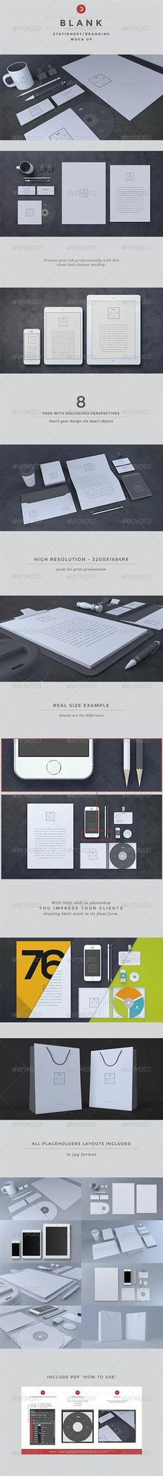 Blank Stationery Branding Mock-Up – GraphicRiver » Free Hero Graphic Design: Special GFX Posts Vectors AEP Projects PSD Sources Web Templates 3D Stock Images   HeroGFX.com