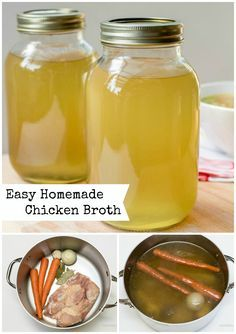 This chicken broth will infuse a soup with great flavors, but can also add flavors to many other recipes, such as rice or other grains.