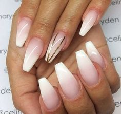 white coffin nails with rhinestones - Google Search