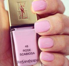 Pretty Pink Polish via longhairstyleshowto.com