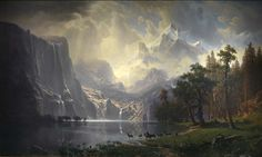 Among the Sierra Nevada, California by Albert Bierstadt / American Art-SMITHSONIAN AMERICAN ART MUSEUM
