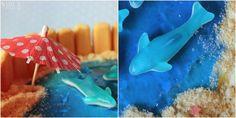Miss Blueberrymuffin's kitchen: Sommerlich, süß und gefääährlich: Haifischbecken-Torte