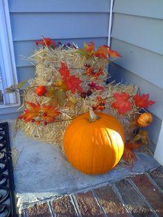 fall decor  my porch