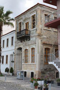 Stone house in Foça, İzmir, Turkiye.