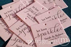 Sparkler Tags - Let Love Sparkle - Wedding Favor Tags