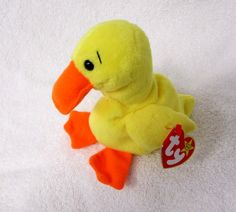 Conquering the world back in the 1990s, the Beanie Babies didn't have to try hard to captivate the hearts no... -  Quackers the Duck Beanie Baby . Discover More at: http://www.topteny.com/top-10-rarest-beanie-babies-world/