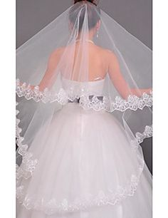 Wedding Veil One-tier Chapel Veils Lace Applique Edge. Get awesome discounts up to 70% Off at Light in the Box using Coupons.
