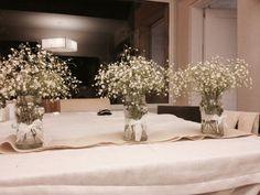 floreros hechos con frascos de vidrio casamiento - Buscar con Google
