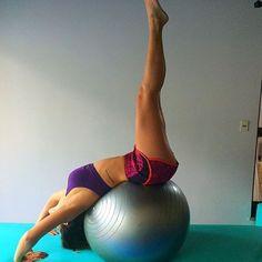 Pilates: Extensão na bola