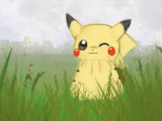 Pikachu Wallpaper- Foggy Field - 50 Lovely Pokemon Wallpapers  <3 <3