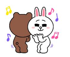 LINE Official Stickers - Brown & Cony Heart Melting Romance Example with GIF Animation Cute Couple Cartoon, Cute Love Cartoons, Cute Couple Art, Cony Brown, Brown Bear, Romantic Kiss Gif, Cute Bear Drawings, Bear Gif, Hello Kitty Art