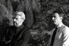 """Lambert Wilson, il """"Professore"""" e Vincenzo Amato, """"l'Intenditore"""" sul set di uno dei film più poetici degli ultimi tempi: VINODENTRO!"""