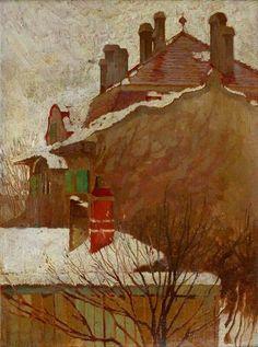 Egon Schiele - Houses in Winter