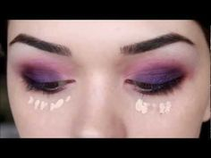purple party make up tutorial
