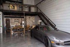 Buy A Garage, Garage Loft, Garage House, Dream Garage, Man Cave Garage, Bar Design, House Design, Design Ideas, Cave Bar