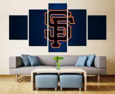 Home Decoration Cheap Ideas Giants Team, Giants Baseball, Canvas Wall Art, Wall Art Prints, Canvas Prints, Baseball Canvas, Base Ball, Bed In Living Room, Sports Wall