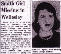 Sylvia Plath in The Boston Post. August 25, 1953: 7.