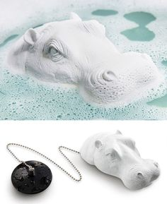 Joe the Hippo Bath Plug............................I don't think I'd want a hippo staring at my while I bathed.: