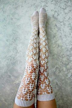 online underwear, buy socks, nbb Source by Stockings Lingerie, Sexy Stockings, Lace Socks, Crochet Slippers, Knit Crochet, Crochet Clothes, Diy Clothes, Thigh High Socks, Thigh Highs