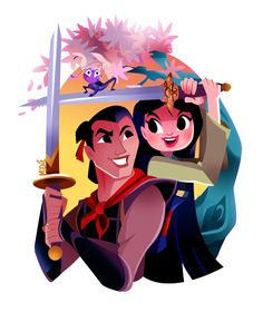 Mulan princess art, cute disney, disney fan art, disney animation, d Disney Pixar, Disney Films, Disney Fan Art, Disney E Dreamworks, Disney Xd, Disney Couples, Cute Disney, Disney Animation, Disney Characters