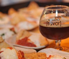 Baked Goat Cheese in Tomato Sauce With Pita Crisps w/ Avery Brewing Maharaja Imperial IPA.