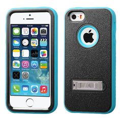 MYBAT Verge M-Stand Case for iPhone 5/5S - Natural Black/Tropical Teal